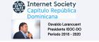Osvaldo Larancuent, electo presidente de ISOC Dominicana para el período 2018-2020.  Santo Domingo.