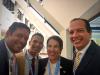 Osvaldo Larancuent, Juan Matos, Amparo Arango y Orlando Perez Richiez.  Simposio de Creando Capacidades. Unión Internacional de Telecomunicaciones, Santo Domingo, Julio 2018.